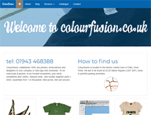 Tablet Preview of colourfusion.co.uk